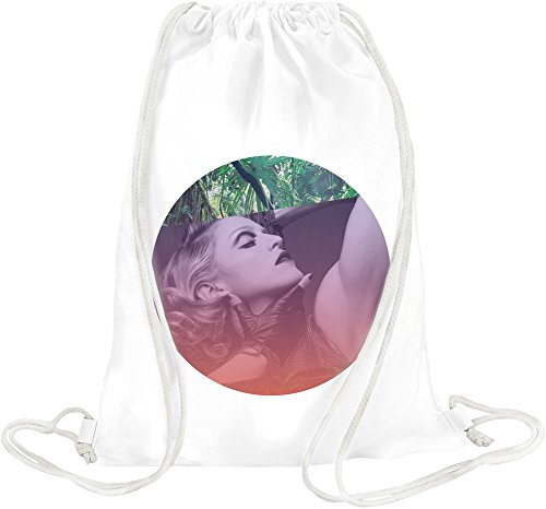 Legendary Singer Actress Portrait Drawstring bag Madonna Mdna Vinyl