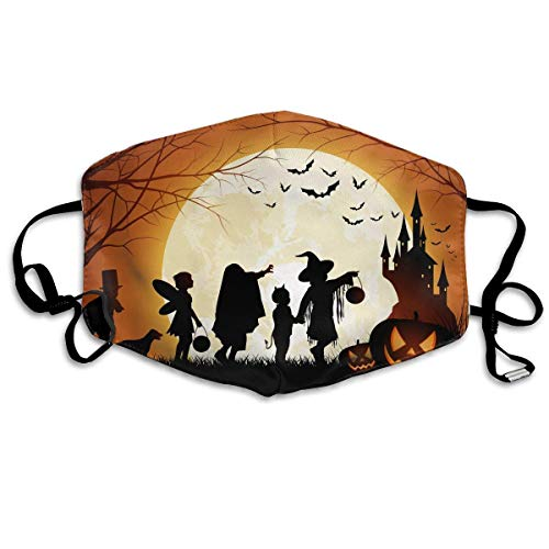 Daawqee Staubschutzmasken, Anti Dust Face Mouth Cover Mask Happy Halloween Moon Anti Pollution Breath Healthy Mask