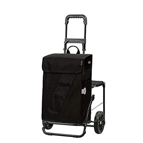 Andersen Shopper Komfort mit Sitz und 46 Liter Tasche Vika schwarz mit Kühlfach