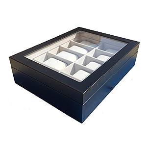 Zabelini Caja Negra de Madera para (5/10 Relojes) por Zabelini