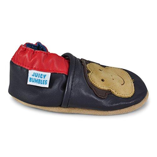 best value dcdde ba42c ... Juicy Bumbles - Weicher Leder Lauflernschuhe Krabbelschuhe  Babyhausschuhe mit Wildledersohlen. Junge Mädchen Kleinkind 0-