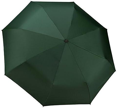 Parapluie de voyage coupe-vent 60km/h Fermeture et ouverture automatique Compact, vert foncé (noir) - TU-200