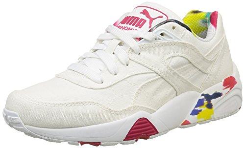 Puma Damen R698 Blur Sneaker, Schwarz Blanc (White/Rose Red)