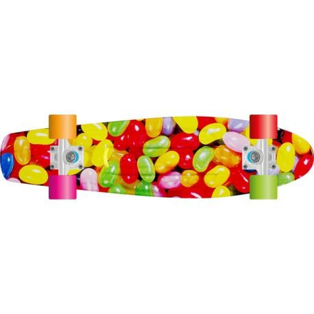 "SKATE COMPLET PROHIBITION 22.5"" RETRO PLASTIC GUMBALLS/RED"