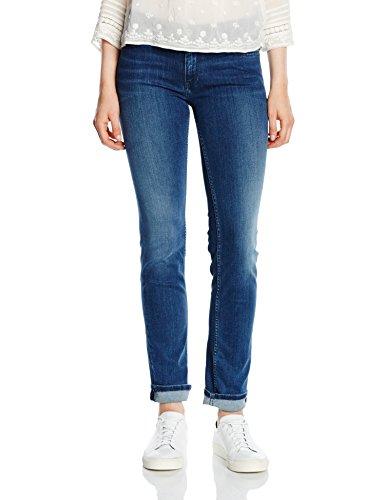 Hilfiger Denim Damen Straight Leg Jeanshose rise Sandy NMST, Gr. W34/L34, Blau (NICEVILLE MID STRETCH 916) (Straight Leg Mid-rise)
