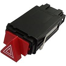 AERZETIX: Interruptor boton conmutador para luces de emergencia compatible con 4B0941509D C17172