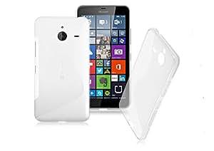 Ziaon Silicone S-Line Hybrid TPU Soft Gel Back Cover Case for Microsoft Lumia 640 XL - semi Transperant