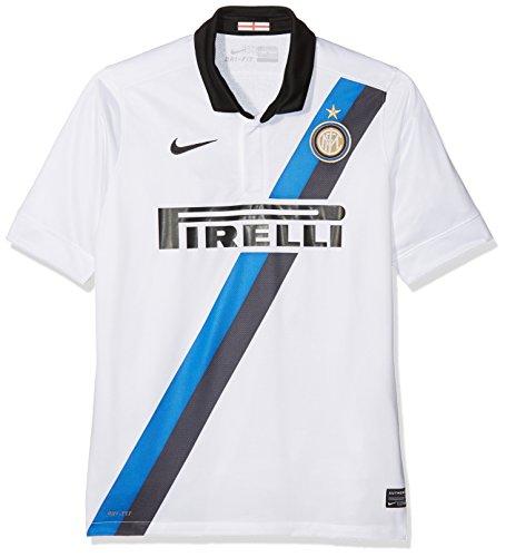 Nike Niños Inter de Milán Away 2011/2012Team Camiseta, Color Blanco/Negro/Azul, L de 152/158