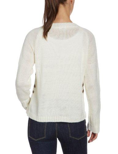 Kaffe - Pull - Femme Blanc (Linen creme 1024)