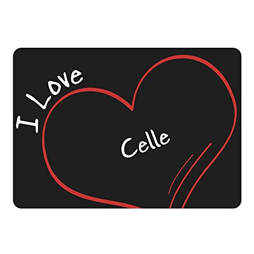 Mousepad Modern I Love Celle schwarz