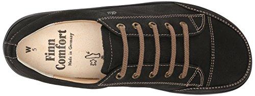 Finn Comfort Womens 2911 Ikebukuro Leather Shoes Black Rodeobuk