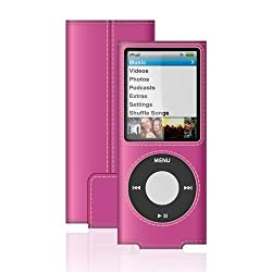 Belkin Leather Sleeve For 4g Ipod Nano, Pink Grey