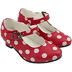 Zapatos Sevillana Rojos con Lunares Blancos Talla 26