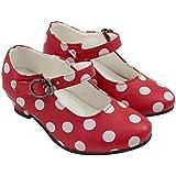 Zapatos Sevillana Rojos con Lunares Blancos T - 25