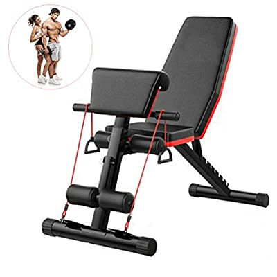 Fnova Adjustable Weight Bench Fitness - Foldable Incline Decline for Home Training Gym Utility Exercise Bench Press [UK Stock] from Fnova
