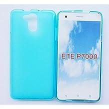 Prevoa ® 丨Elephone P7000 Funda - Silicone TPU Funda Cover Case para Elephone P7000 5.5 Pulgadas Smartphone - Azul