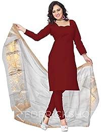 Red Brick Shop Women's Chanderi Handcrafted Lotus Striped Designer 2.4 M Offwhite Silk Cotton Duppatta MPV0035DP1023BOS17