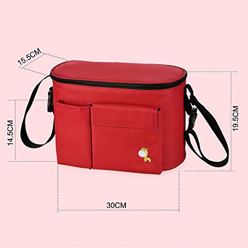 Wickeltasche Baby Windeltasche Pflegetasche Mumie Tasche Kinderwagen Babytasche Rot Kaki