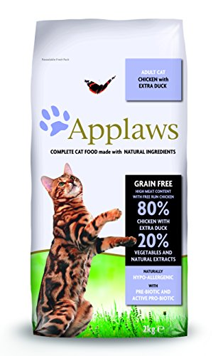 Applaws Comida seca para gatos, pollo y pato/adulto, 2 kg