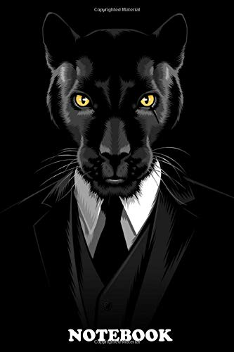 Notebook: Suit Panther , Journal for Writing, College Ruled Size 6' x 9', 110 Pages