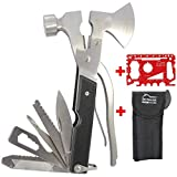 DIY TECH UK - 17-in-1 Axt Multifunktionswerkzeug + Kostenloses 48-in-1 Werkzeug - EXTRA STARK Hoch...