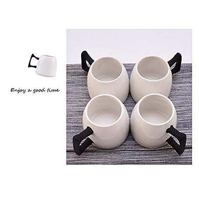 QMJHL Ensemble de Tasses à café en céramique Haut de Gamme, Tasse de théière, Filtre à thé, boîte-Cadeau pour Ensemble de thé, 10 Sets/Set.