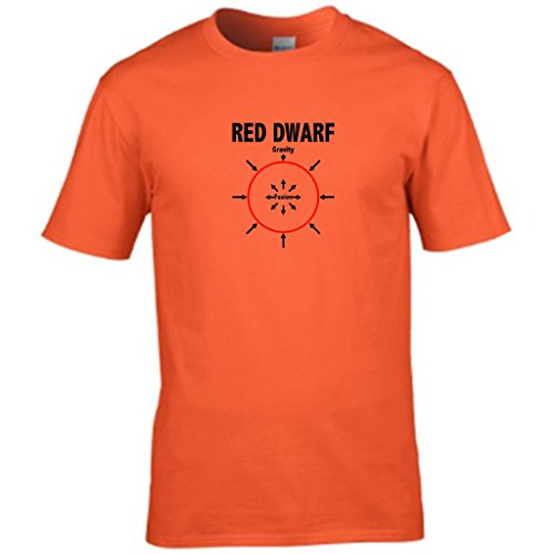 RED DWARF-t shirt Herren Orange