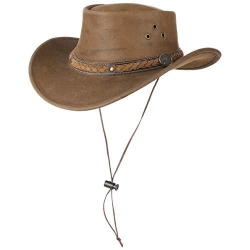 Scippis Sombrero de Piel Townsville Vaquero Hombre (S (54-55 cm) - mar