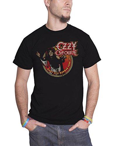 Ozzy Osbourne T Shirt Diary of a Madman Tour 1982 Logo offiziell Herren Nue (T-shirt Tour 1982)