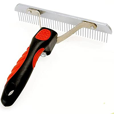 LEEBEI Pet Combs for Cats Dogs Rake Cutting Grooming Combs for Husky Golden Dogs Pet Hair Remover Tools by Leebei