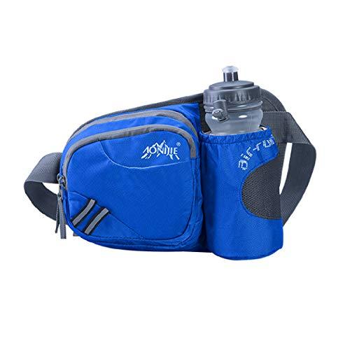 TRIWONDER Trinkgürtel mit Trinkflasche, Hüfttasche Gürteltasche mit Flaschenhalter für Laufen Joggen Damen und Herren (Blau)