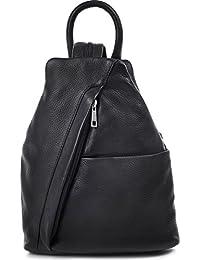 Established Seventy9, CNTMP–Mochila de piel para mujer, con bolsillos, 25x 30x 11cm, color negro