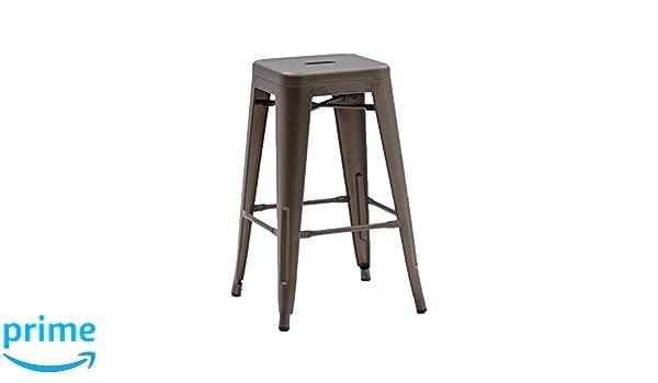 La seggiola route 66 stool art.590 sgabello in metallo brunito