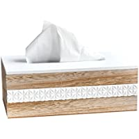 LIANTING Tissue Box Holz Wohnzimmer Tee Tisch BüRo Pumppapier Box (25 * 9 * 14cm)