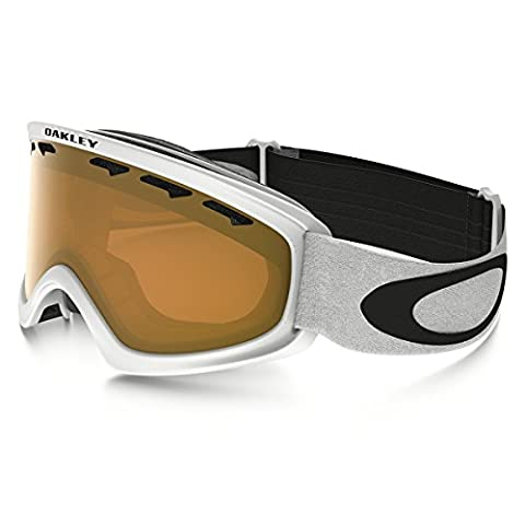 Oakley Two Matte White Frame Snow Goggles with Persimmon Lens - X-Small