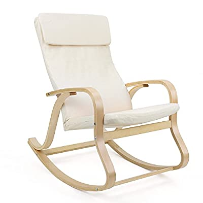 Songmics Lounge Relax Rocking Chair with Washable Covers Comfortable - inexpensive UK light shop.