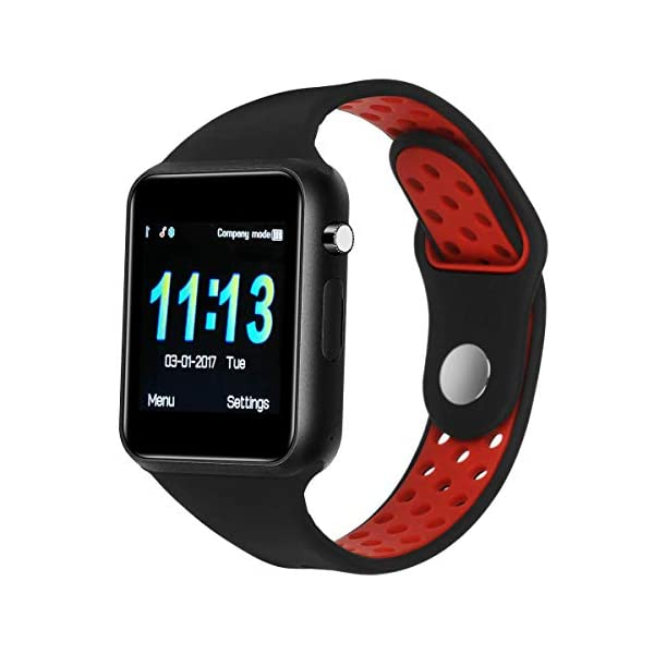 Dr.Haer Reloj Inteligente, M3 Smartwatch Bluetooth Deporte Fitness Tracker con Monitor de Pulso Cardiaco,Rastreador de Ejercicios para iOS, Android Phones,etc 1