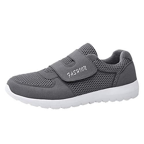 LuckyGirls Zapatos De Malla para Hombre Antideslizante Zapatos Informales Zapatos de Alpinismo Respirable Zapatillas sin Cordones Mocasines