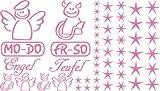 Autoaufkleber Sticker Aufkleber Set für Auto Schriftzug Engel Mo-Do Fr-So Teufe (045 hellrosa)