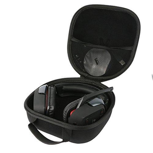 Teckone Portable Etui de voyage Housse pour Logitech G430/G230/G930/G933/G633 Casque Gaming sans Fil Headset Headphone. Mesh Pocket pour autres accessoires