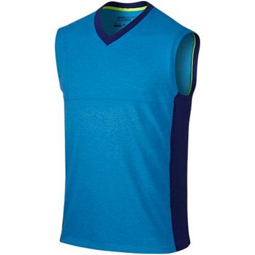 Golf V-neck Tank Top (2015 Nike Dri-Fit V-Neck Wool Vest Mens Golf Sleeveless Sweater Tank Top Photo Blue XL)