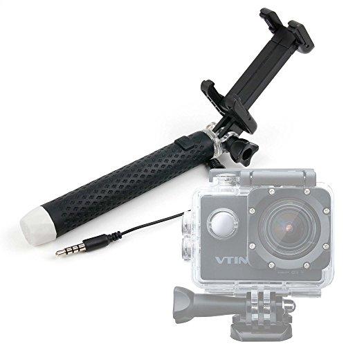 DURAGADGET Palo Selfie (Selfie-Stick) para Cámara Deportiva Elephone ELE Explorer Elite NTK96660 | Topjoy F60 4K | Mohoo 1080P TopElek | HAMSWAN