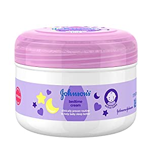 JOHNSON'S Bedtime Cream 200 ml, Leaves Skin Soft and Smooth, Enriched with Soothing NaturalCalm Essences