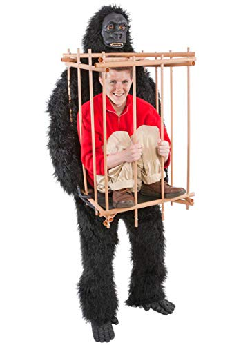 Gorilla & Cage Costume Fancy - Gorilla Party Animal Kostüm