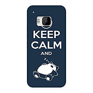 Cute Keep Calm And Sleep Back Case Cover for HTC One M9
