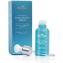 Belle Azul PURE SWISS – Serum facial de Ácido Hialurónico puro de alta calidad suiza,