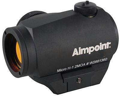 AIMPOINT MICRO H-1 2 MOA RED DOT SIGHT WITH STANDARD MOUNT BY AIMPOINT