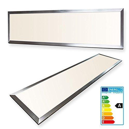 Standard Einbauleuchte Panel (LEDVero 1er Set 120x30cm Ultraslim LED Panel 36W, 3000lm, 3000K Deckenleuchte mit Befestigungsclips und EMV2016 Trafo -Warmweiß- Energieklasse A+)