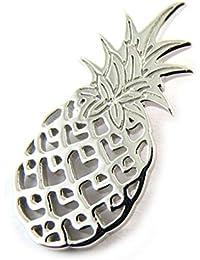 Les Trésors De Lily [N3394] - Pendentif Argent 'Ananas' argenté (rhodié)