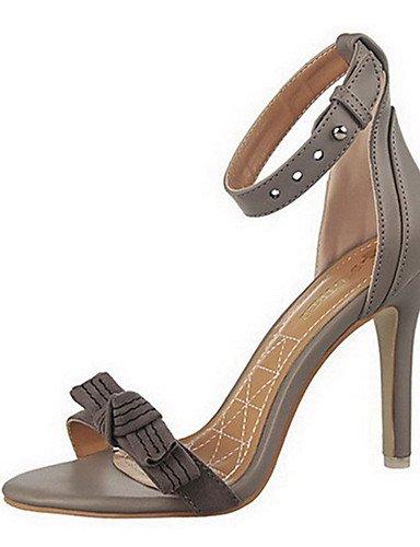 WSS 2016 Chaussures Femme-Décontracté-Bleu / Rose / Rouge / Gris / Beige-Gros Talon-Talons-Talons-Laine synthétique gray-us7.5 / eu38 / uk5.5 / cn38